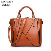 100% Genuine leather Women handbags 2018 New Europe Handbag Shoulder Messenger Bag Design stitching fashion ladies bag