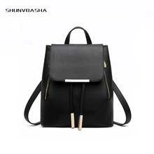 Preppy Style Backpacks For College Students Youthful Delicate High Capacity Shoulder Bags PU Zipper Pocket Women Backpacks