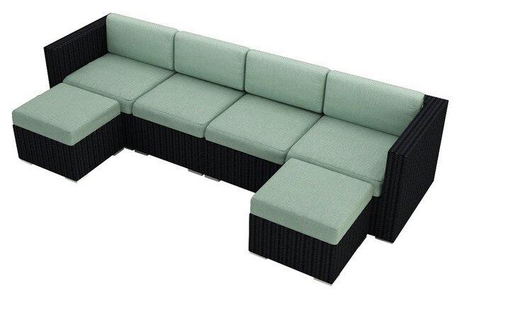 2017 Rattan Corner Sofa 6 Pieces Outdoor Furniture Modular Sofa Sets