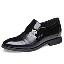 Dropshipping 2019 Luxury Brand Men Flats Fashion High Quality Genuine Leather Shoes Mens Slip On Business Dress Shoes DB0116