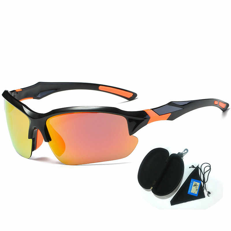 3df69db0253 Discolor Polarized Cycling glasses Photosensitive lens Outdoor Sports  Sunglasses UV400 Bike Windproof Ladies Men Bicycle Goggles