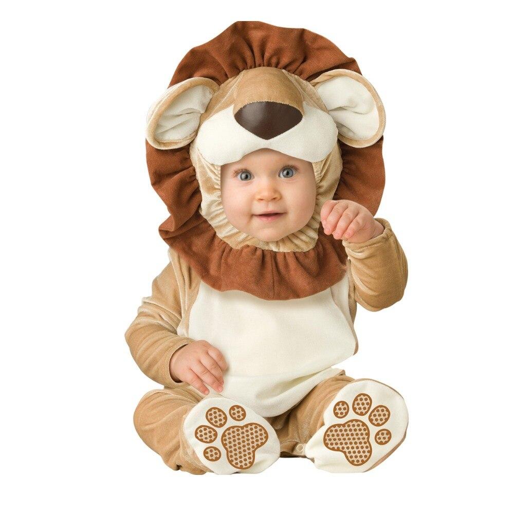 Bébé infantile Animal barboteuse jeux de rôle Costumes Lion habiller tenue Halloween Costume