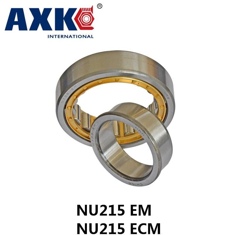 Axk Gcr15 Nu215 Em Or Nu215ecm (75x130x25mm)brass Cage Cylindrical Roller Bearings Abec-1,p0 mochu 22213 22213ca 22213ca w33 65x120x31 53513 53513hk spherical roller bearings self aligning cylindrical bore