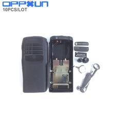 OPPXUN 10 набор корпус Корпус чехол черная поверхность Защитная крышка против пыли ручка для Motorola GP328 gp340 pro5150 радио