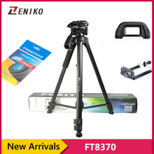 On sale Portable Aluminum Alloy Telescopic Tripod Stand Holder for DSLR Camera Video + Lens Cleaning Paper + Phone Clip + Camera Eyecup