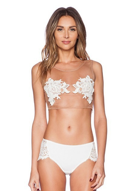 f1ccc850240 sexy bustier floral lace crop tops bra bralette black plus size push up  summer halter top. Mouse over to ...