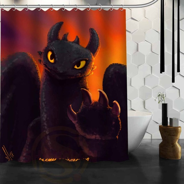 Custom How To Train Your Dragon Shower Curtain Bath Waterproof Fabric Bathroom MORE SIZE