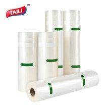 Taili 5 Rolls Keuken Voedsel Vacuümzak Opslag Zakken Voor Voedsel Vacuüm Verpakking Rolls Vacuüm Heat Seal Bag 20*610 Cm/28*490 Cm