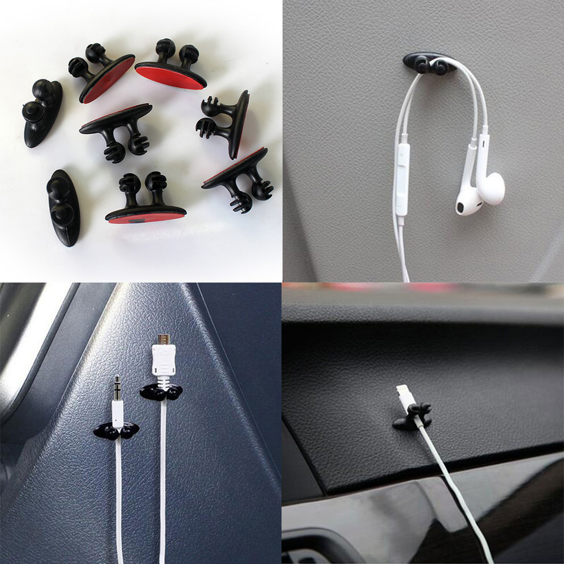 Consumer Electronics Marsnaska 8pcs Wire Cable Holder Multifunctional Tie Clip Fixer Organizer Charger Line Clasp High Quality Headphone Cable Clip