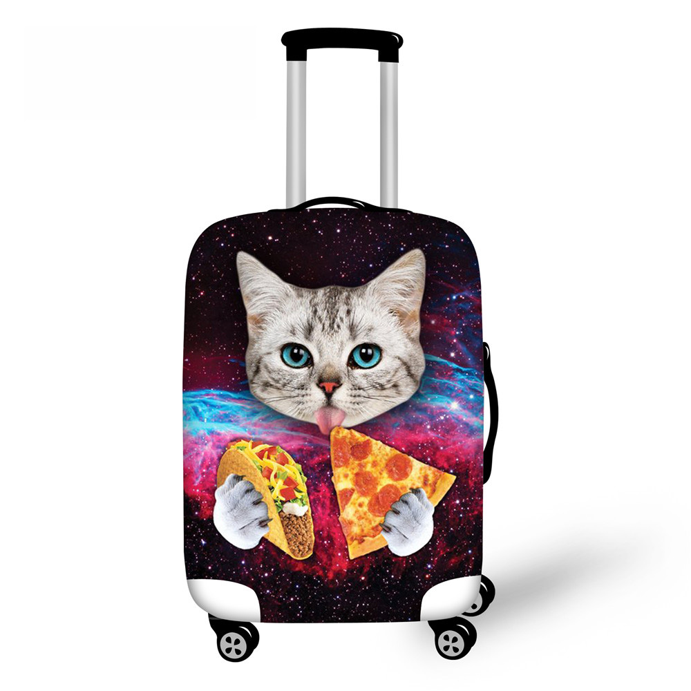 GALAXY CAT Painting Case Bags Travel Luggage Cover Starry Night Elastic Stretch Protective Suitcase Cover 18''-30'' Case Covers