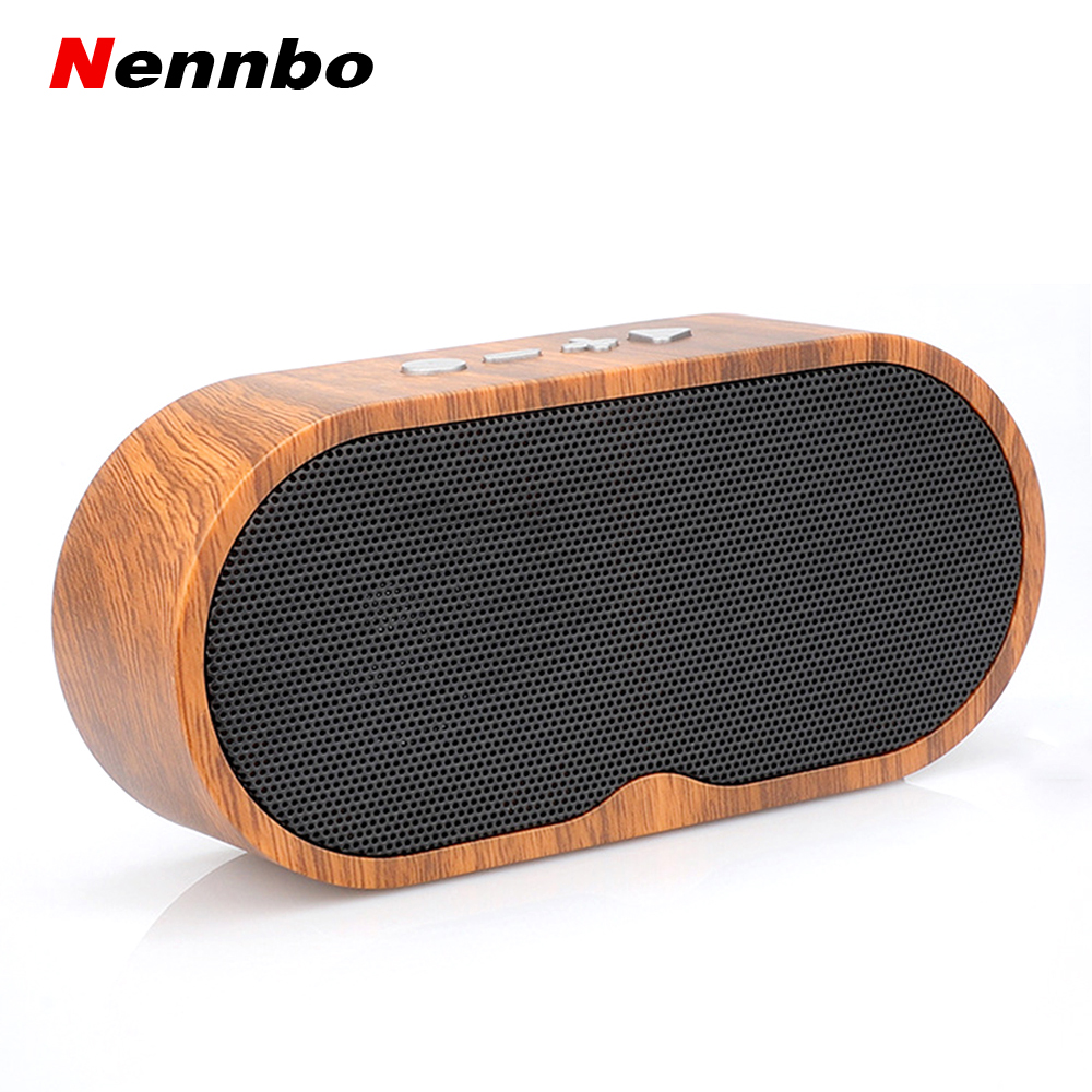 F3 Bluetooth Speakers Portable Retro Wood Grain Wireless Speaker Support TF Card With Microphone Handsfree Speaker For phone image