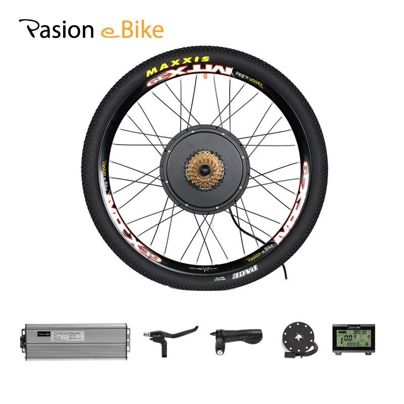 Kit de conversão de bicicleta elétrica do motor da roda 1500w 48 v e kit de bicicleta 1500w do motor da roda para 20-29in motor do cubo traseiro