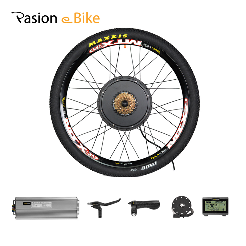цены PASION E BIKE 48V 1500W Motor Wheel Electric Bike Kit Electric Bicycle Conversion Kit for 20 24 26 700C 28 29in Rear Wheel Motor