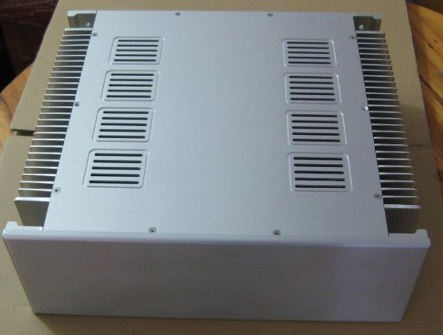 4315A Aluminum Chassis Amp Case Power Amp DIY Cabinet Box With Heatsink