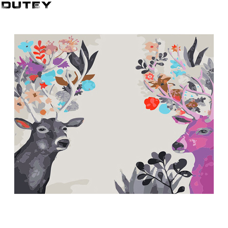 5d diy diamond embroidery diamond painting Cross Stitch Rhinestone mosaic decoration Flower angle deer 1