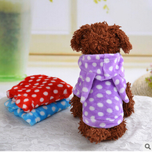 Pet Dog Cat Hoodie Coat Winter Jackets Warm Fleece Sweaters Puppy Jumpers Dog Clothes XS S M L XL
