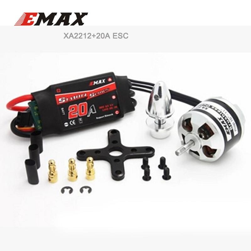 все цены на EMAX Motor ESC Set XA2212 Brushless Motor 820KV/980KV/1400KV & 20A Simonk Speed Contrller онлайн