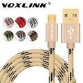 VOXLINK Micro USB Cables 0.5M 1M 2M 3M Metal Braided Cord Data Sync Wire Charger For Samsung Galaxy Xiaomi HTC Android phones