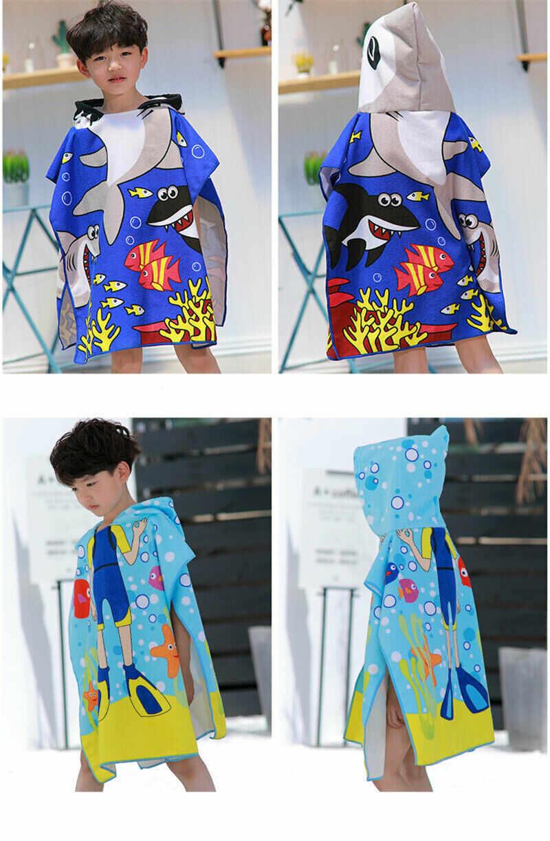 PUDCOCO nowe dzieci dzieci kąpiel miękkie ciepłe Wrap szlafrok z kapturem płaszcz kreskówka wzór koc dla niemowląt dzieci ręcznik kąpielowy