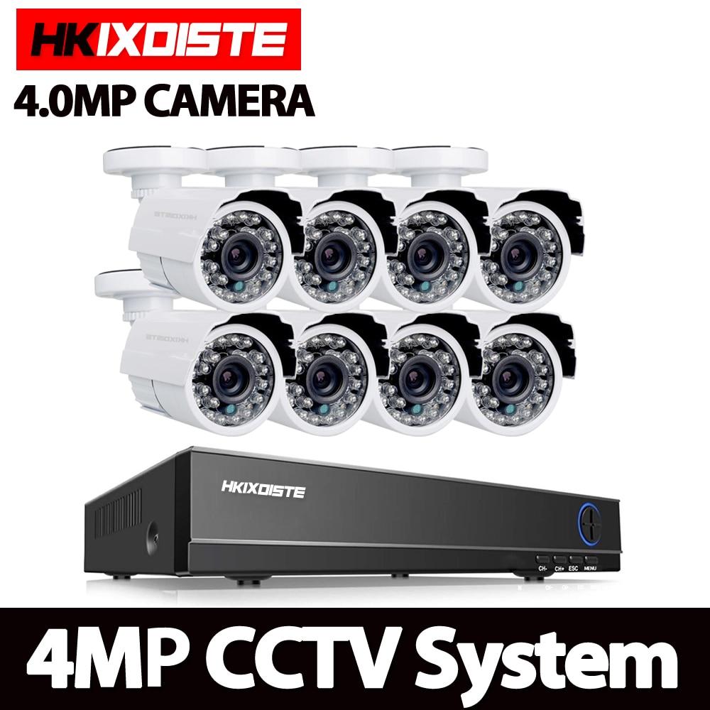 8CH 4MP 1080 P HDMI P2P DVR AHD IP NVR Système de Surveillance Vidéo De Sortie 8 pièces 4.0MP AHD extérieure Caméra de VIDÉOSURVEILLANCE De Sécurité À Domicile Kits