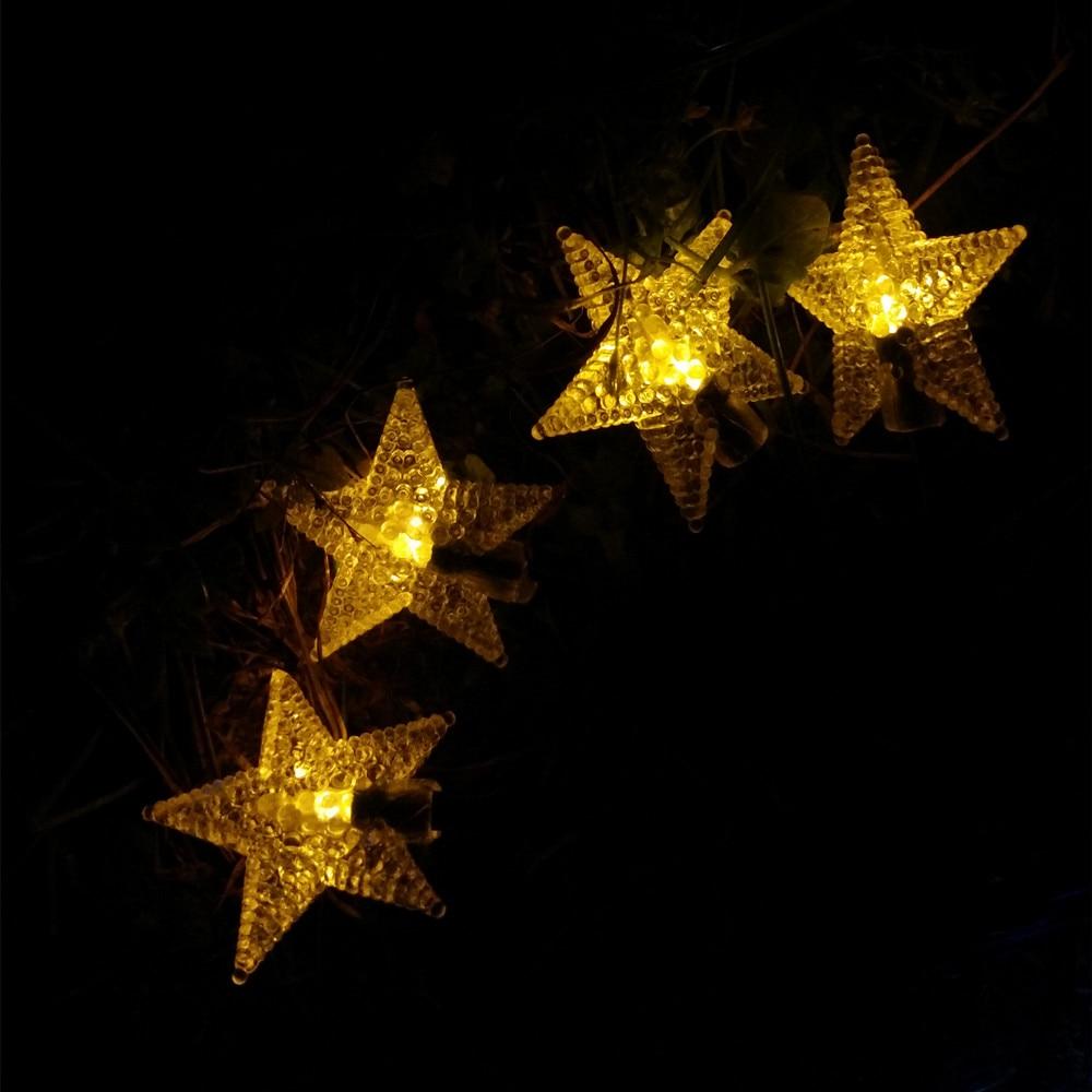 Yiyang 100 звезды Солнечный открытый сад путь Лампы для мотоциклов украшения дома огни 12 м для отдыха и вечеринок Панели солнечные Мощность Гирл...