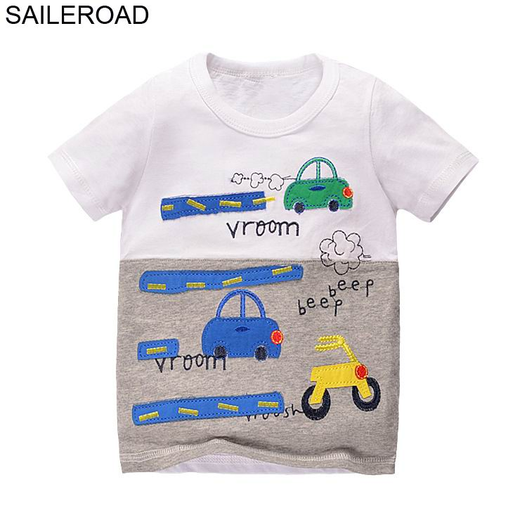 SAILEROAD New Cartoon Children Kids Shorts T Shirts Summer Baby Boys Girls Tops Tees Shirts For 2017 Years Boys Clothing