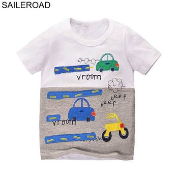 SAILEROAD New Cartoon Children Kids Shorts T Shirts Summer Baby Boys Girls Tops Tees Shirts For 2017 Years Boys Clothing