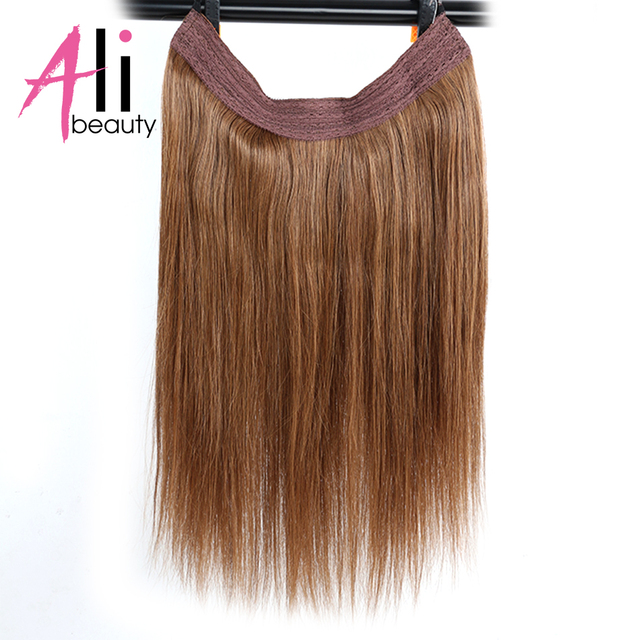 Ali Beauty 18 Brazilian Straight Hair Flip On In Hair Extension No