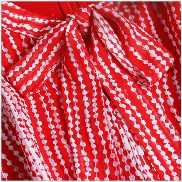 Printemps Robes Imprimer Trimestre Boho Manches Mi Femmes veau Trois Arc 2018 cou O 1801507 Mi Robe Feminina Taille P88wE
