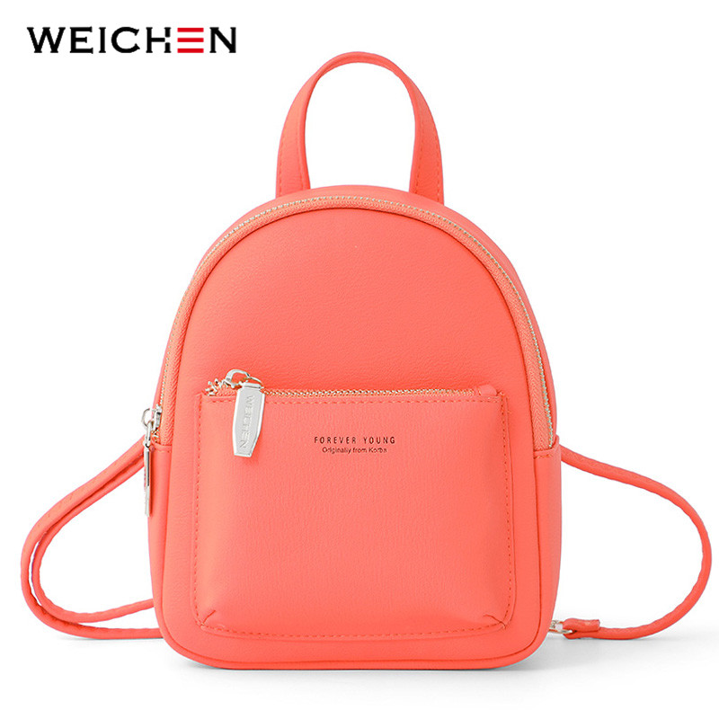 WEICHEN New Women Mini Backpack Soft Touch Multi-Function Female Small Backpack & Shoulder Bag Womens Bagpack Ladies Bolsos