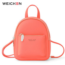 WEICHEN New Women Mini Backpack Soft Touch Multi-Function Female Small & Shoulder Bag Womens Bagpack Ladies Bolsos
