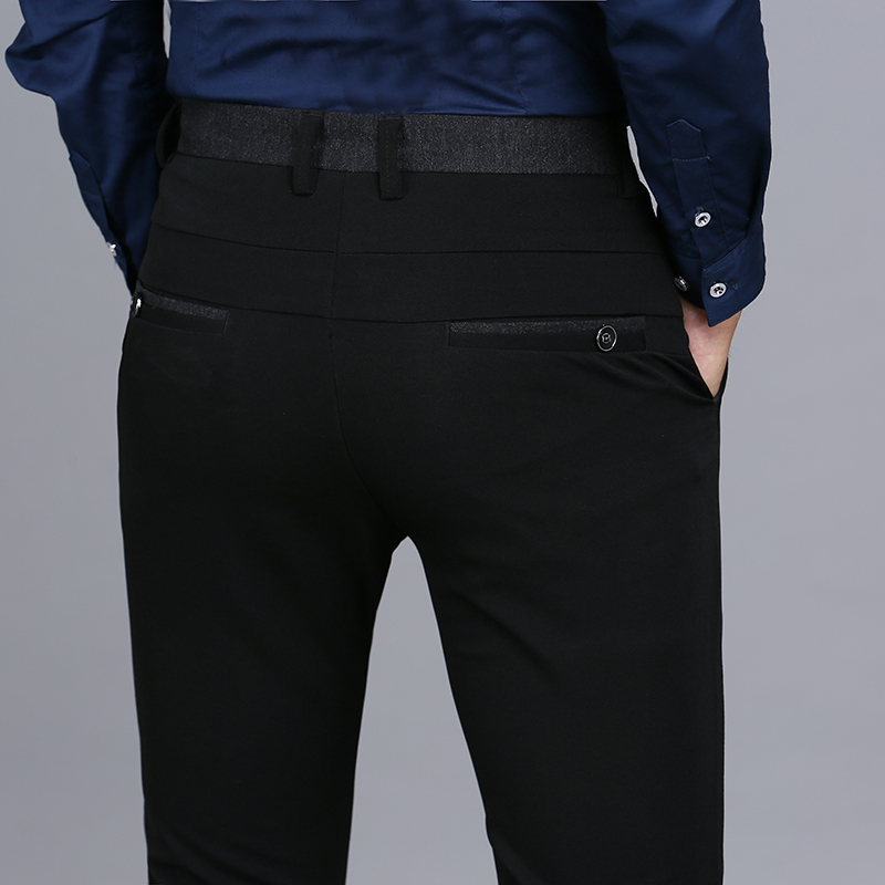 2016 Luxury High Quality Business Casual Men's Pants Repair Height Quality Designer Business Men's Casual Pants