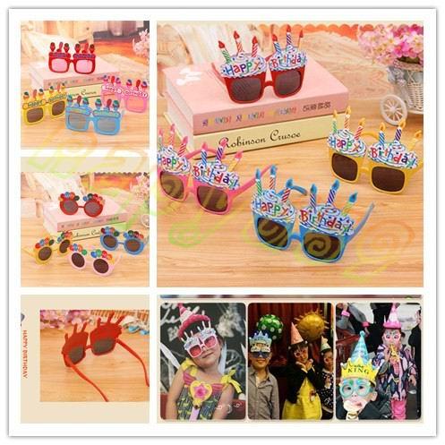 5 unids Kids birthday party Eyewear gafas Apoyos de la Foto Props Decoración Del