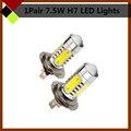 7.5 W H7 blanco bombillas LED COB Car faros de luz de cruce niebla luces de conducción 2 unids