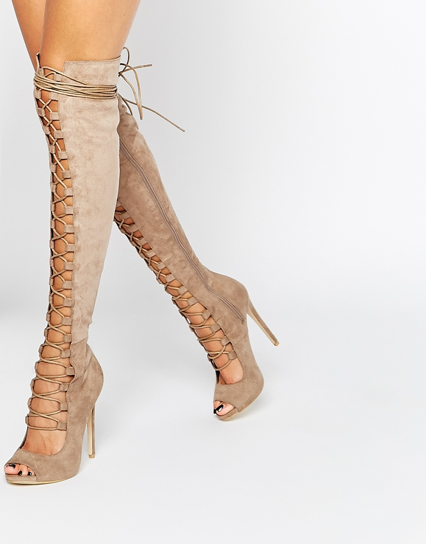 Popular Beige Leather Thigh High Boots-Buy Cheap Beige Leather ...
