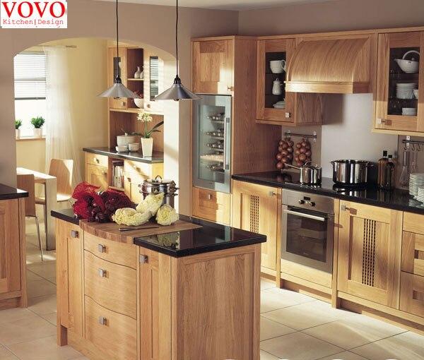Cocina de madera sólida conjunto en Gabinetes de cocina de Mejoras ...