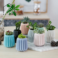 Mini multi deformed desktop ceramic vase brief pastoral style plant small vase