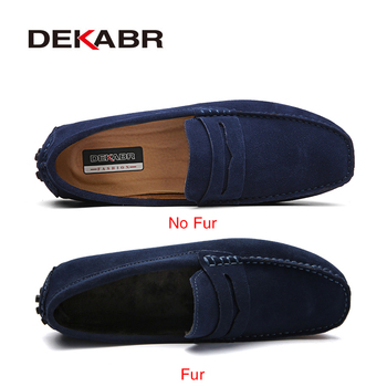 DEKABR Size 49 Men Casual Shoes Fashion Men Shoes Genuine Leather Men Loafers Moccasins Slip On Men's Flats Male Driving Shoes 1
