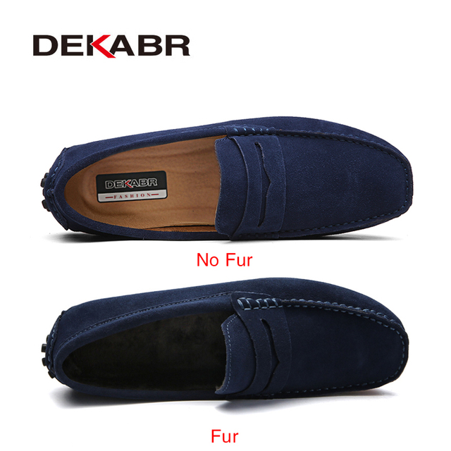 DEKABR Size 49 Men Casual Shoes Fashion Men Shoes Genuine Leather Men Loafers Moccasins Slip On Men's Flats Male Driving Shoes 1
