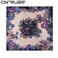 CNRUBR Señoras de Seda Imitado Bufanda 90*90 cm Impreso Pañuelo de Satén Grande Femenina Chal Pañuelo Para Mujer Bufandas 8 colores