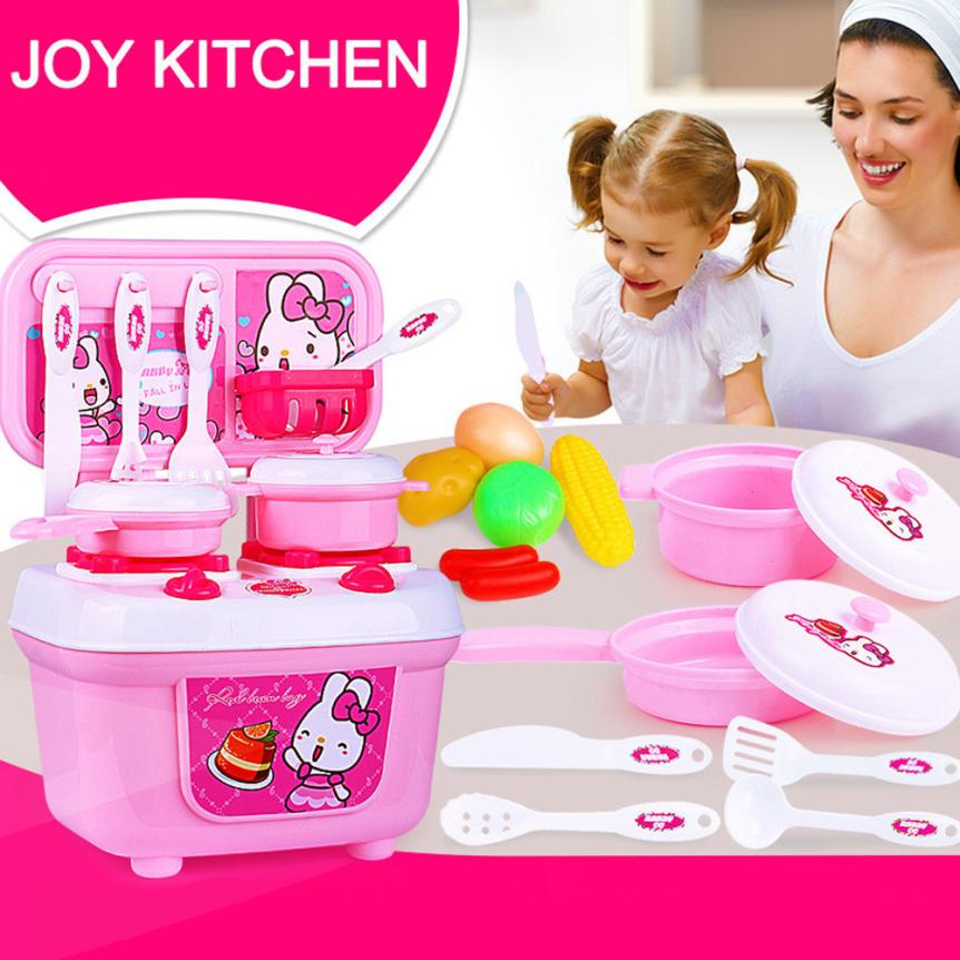 Новый рождественский Детский подарок играть Кухня комплект дети Притворись игрушка Пособия по кулинарии подарок для ребенка 6,7
