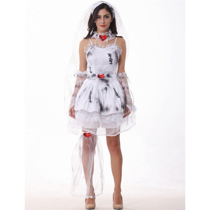 europe and the united states festival halloween devil costume for women witch costume dark sexy scary - Cheap Creepy Halloween Costumes