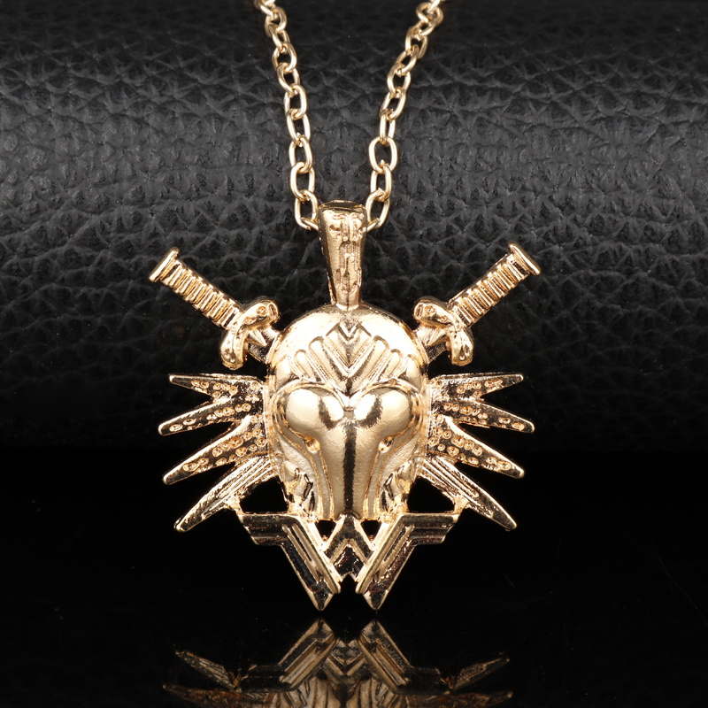 Superhero Justice League Wonder Woman Diana Necklace Charms Pendants Necklace for Female Cosplay Jewelry