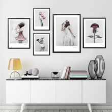 Fashion Modern Canvas Print, Nordic Wall Art Poster, Girls Pictures For Living Room HD2352