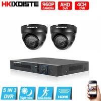 Bewakingscamera 4ch CCTV Systeem DVR DIY Kit 2x960 P Security Camera 1.3mp Camera Surveillance Systeem indoor outdoor