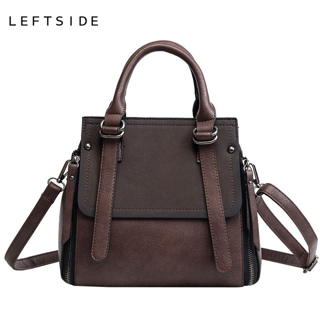 LEFTSIDE Vintage New Handbags For Women 2019 Female Brand Leather Handbag High Quality Small Bags Lady Shoulder Bags Casual 4