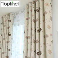 Topfinel Luxury Modern Shade Petal Blackout Curtains for Kids Living Room the Bedroom Window Treatments Drapes Panel Ready Made