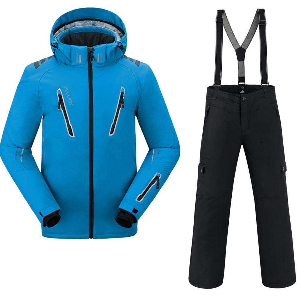 Combinaison de Ski hommes Pelliot veste de Ski + Saenshing Snowboard pantalon respirant Ski Snowboard hiver neige ensemble Super chaud imperméable - 2