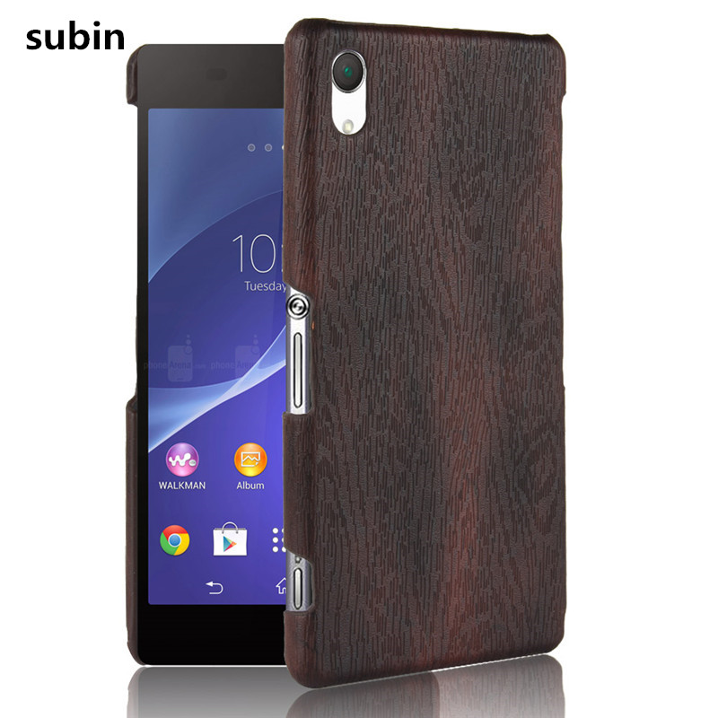 For Sony Xperia Z2 Phone Case Bumper PC Plastic PU Leather ...