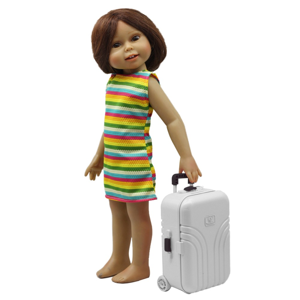 Doll Accessories Suitcase Travel Play Set For 18inch American Girl Dolls  Childrenu0027s Toy Storage Box Bebe Girl Doll Toy Suitcase In Dolls Accessories  From ...